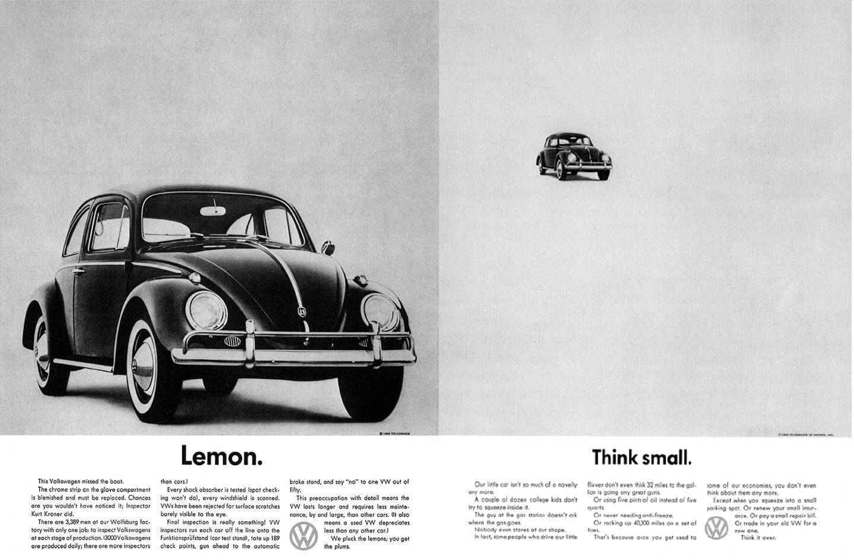 volkswagen think small reklamı