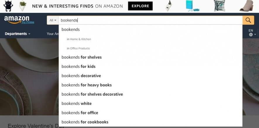 Amazon Auto-Fill Örneği