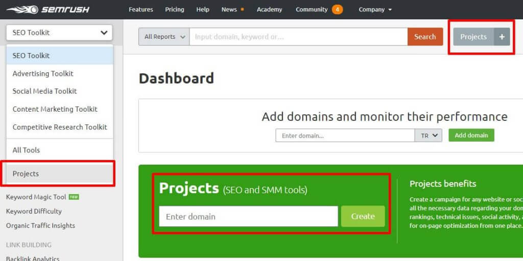 Semrush Project