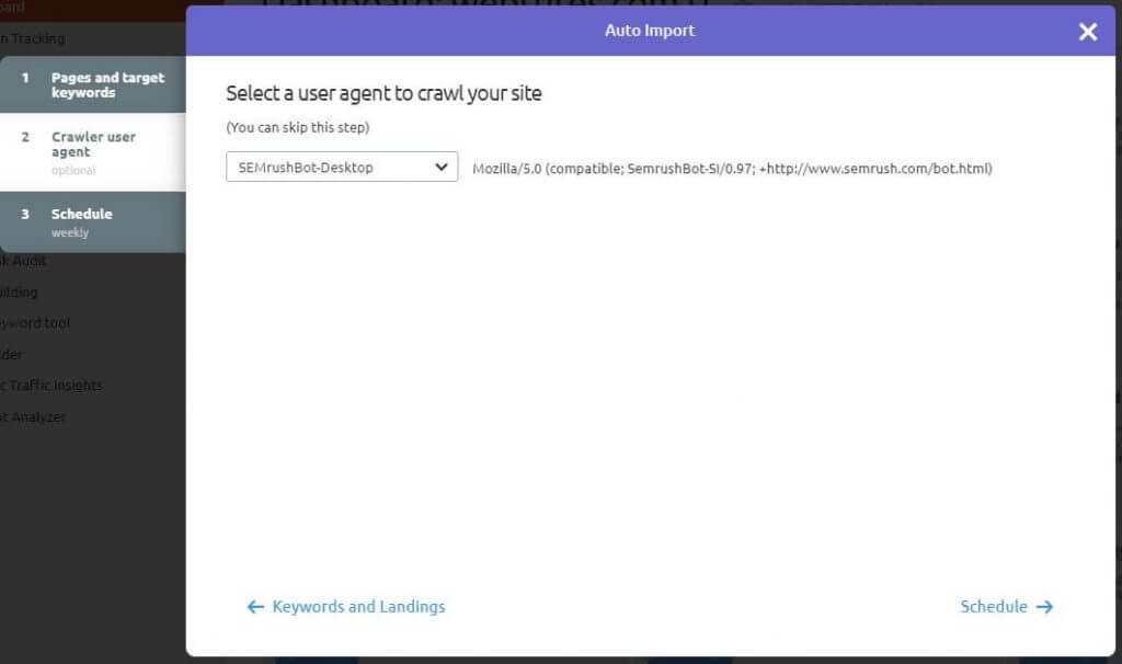 Crawler user agent