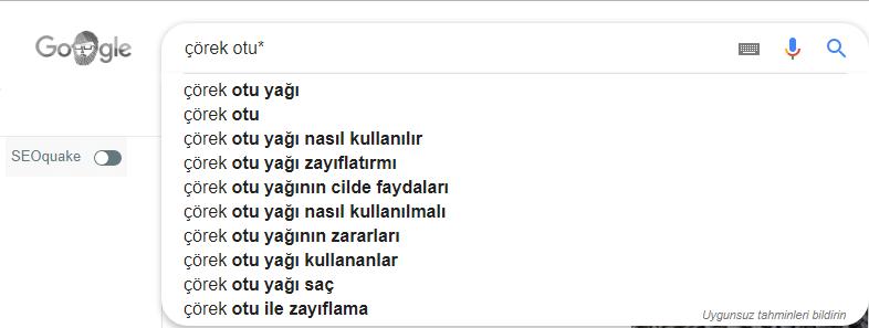 suggestions arama