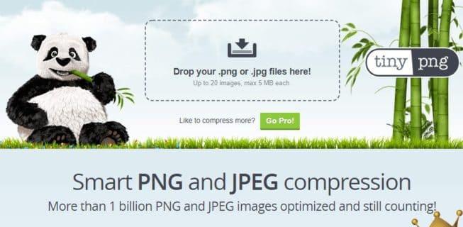 Görsel optimize etmek için tiny.png