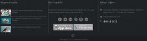 footer app butonları
